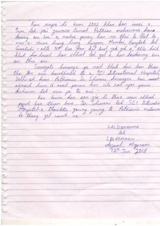 Grateful Parents from Mizoram Dr Shivani